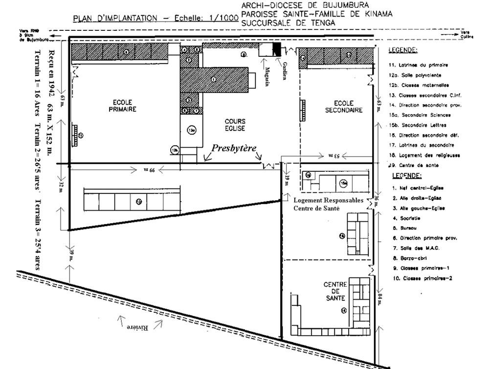 Este es ahora el plan de Tenga (Sombreado lo que ya está construido)